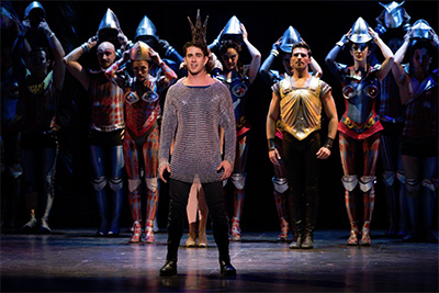 Sam Lips as Pippin and Company in the National Touring Production of PIPPIN. Photo by Martha Rial.