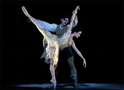 Amy Fote and Connor Walsh in Sir Kenneth MacMillan's Manon.  Photo by Amitava Sarkar.