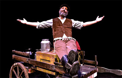 Bruce Winant as Tevye in Casa Mañana's production of Fiddler on the Roof, through Oct. 4. Photo by Samuel Rushen.