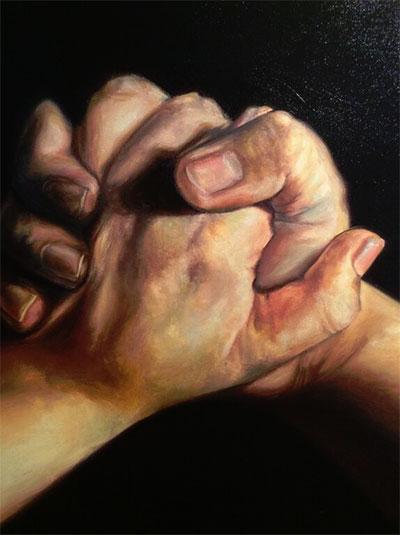 Yenifer Gavina, Hope, 2014. Oil on canvas. Courtesy the artist.