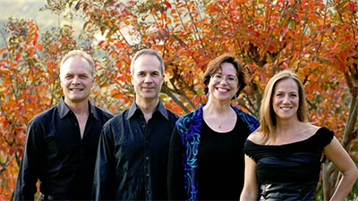 MUSIQA presents SOLI Chamber Ensemble New Music From Near and Far, Part I Saturday, Oct.10, 2015 at the MATCH. Pictured L-R: David Mollenauer, Ertan Torgul, Carolyn True and Stephanie Key. Photo courtesy of SOLI Chamber Ensemble.