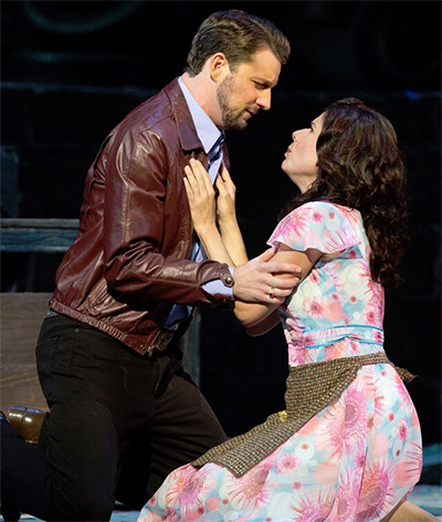 Liam Bonner as Silvio and Ana Maria Martinez as Nedda in the LA Opera production of Pagliacci. Photo by Craig T. Mathew, courtesy of LA Opera.