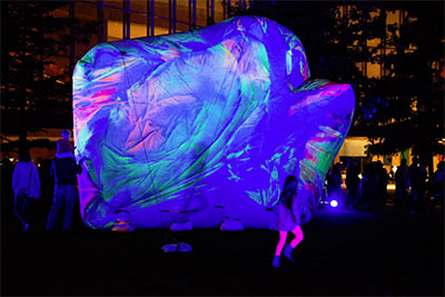 Claire Ashley, Inflatable Objects, Aurora 2013. Photo by Scogin Mayo courtesy the AT&T Performing Arts Center.