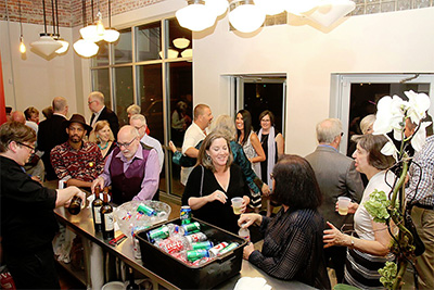 Main Street Theater's new swanky lobby. Photo by Pin Lim / Forest Photography.