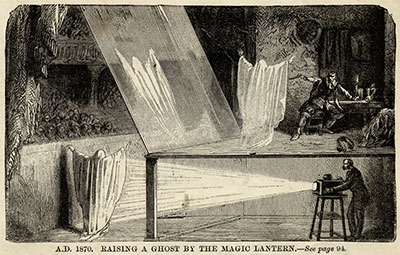 """Phantasmagoria: How to Raise a Ghost"" from The Magic Lantern, How to Buy and How to Use It and Also How to Raise a Ghost by A Mere Phantom, London, Houlston and Sons, 1876. Collection of Jack and Beverly Wilgus."
