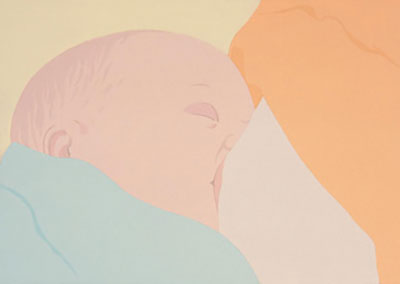 "Francesca Fuchs, Baby 2, 2004, Acrylic on canvas, 86 x 127"", Courtesy of the artist and Texas Gallery."