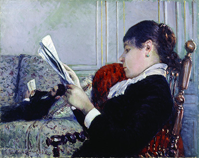Gustave Caillebotte, Interior, a Woman Reading, 1880. Oil on canvas. 25 9/16 x 31 ⅞ in. Private Collection.