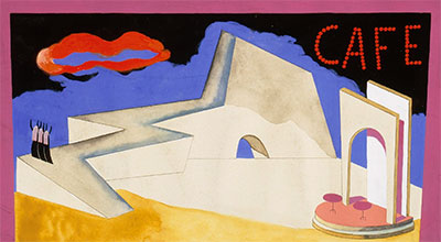 Carlos Merida, Scene design for Carmen, ca. 1944. Gouache and graphite on paper. Gift of the Tobin Endowment.