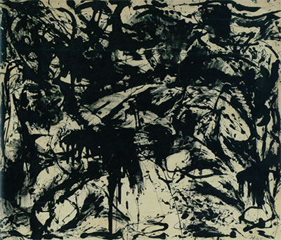 Jackson Pollock, Number 3, 1952. Enamel on unprimed canvas Overall: 55 7/8 x 66 1/8 inches Glenstone Foundation, Potomac, Maryland © 2015 The Pollock-Krasner Foundation / Artists Rights Society (ARS), New York.