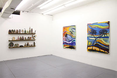 Josh Smith Installation at Oliver Francis Gallery. Image courtesy the artist and the gallery.