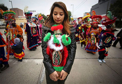 Winter Celebrations: Observing the Feast Day of the Virgin of Guadalupe. Photo by Pin Lim/Forest Photography.