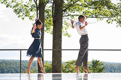 Alex Karigan Farrior and Joshua L. Peugh in Critics of the Morning Song, choreographed by Peugh. Photo by Morah Geist, courtesy of Jacob's Pillow Dance.