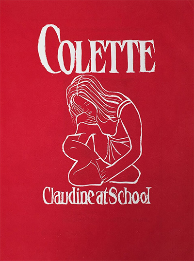 Colette Copeland, Claudine at School, linocut, 2015.