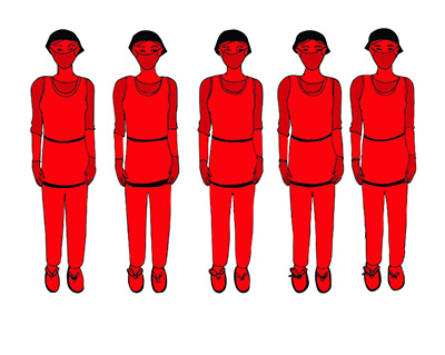 Danielle Dean, True Red (video still), 2015, hand-drawn digital animation with sound, 3:45 (loop), courtesy the artist.