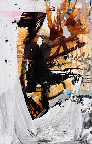 "Tsibi Geva, Untitled (bird), 2015, acrylic on canvas, 48x18""."