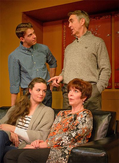 Jake Buchanan (Billy), Kelsey Milbourn (Jane), Bill Jenkins (Bill Sr.) and Linda Leonard (Alice)