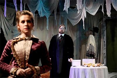 Shanae'a Moore as Nora, Jeff McMorrough as Krogstad.