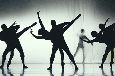 Members of Royal Ballet of Flanders (Antwerp, Belgium) in Fall by Sidi Larbi Cherkaoui. Photo by Filip Van Roe.