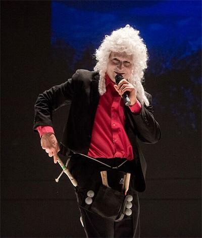 Paul Lazar in Big Dance Theater's Big Dance: Short Form. Photo by Liz Lynch.