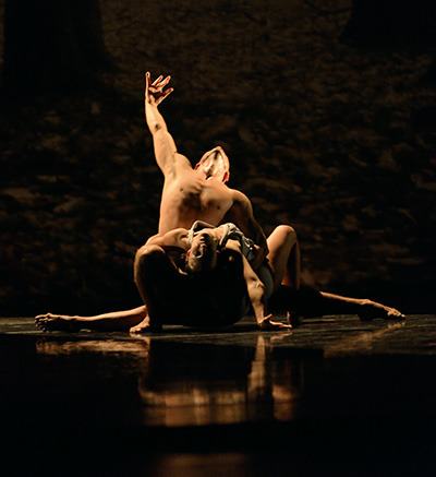 Virginia Hendricksen and Yevgeniy Kolesnyk of Royal Ballet of Flanders (Antwerp, Belgium) in Faun by Sidi Larbi Cherkaoui. Photo by Marc Haegeman.