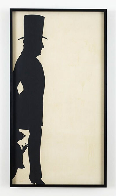 Kara Walker (born 1969, USA) Untitled, 1993-4 Paper on prepared canvas 59.5 x 31.25 in. (151.1 x 79.4 cm) Stuart & Sherry Christhilf © Kara Walker Images are courtesy of Sikkema Jenkins & Co., New York.