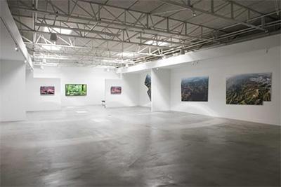 Mark Tribe Installation Shot. Courtesy Zhulong Gallery.