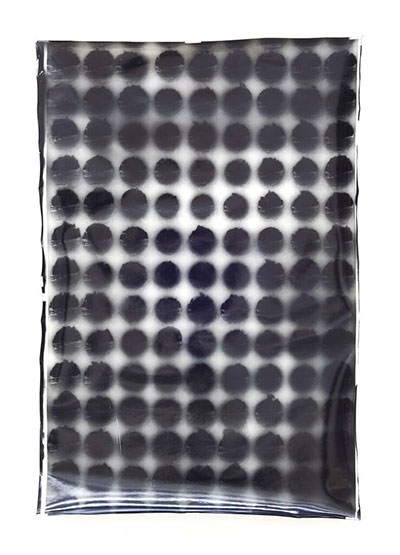 "Adam Crosson, 135 Apertures, 2015 gelatin-silver print 60"" x 36"" x 4""."