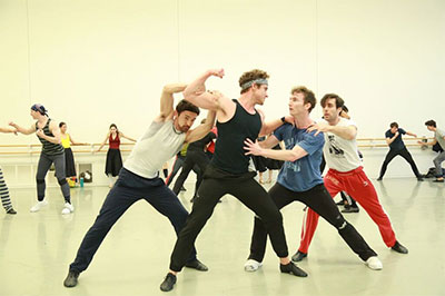 Artists of Houston Ballet in Jerome Robbins' West Side Story Suite.
