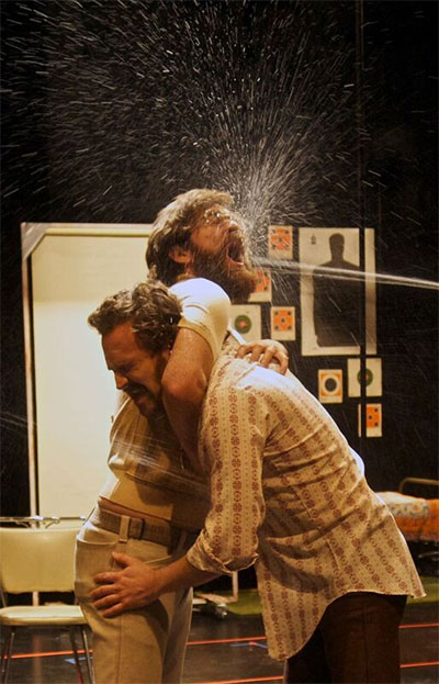 Thomas Graves and Jason Liebrecht in The Method Gun, Humana Festival of New American Plays, 2010, Actors Theatre of Louisville. Photo by Kathi Kacinski.