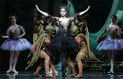 Melody Mennite and Artists of Houston Ballet in Ben Stevenson's The Sleeping Beauty. Photo by Amitava Sarkar.