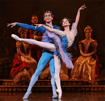 Karina Gonzalez and Charles-Louis Yoshiyama in Ben Stevenson's The Sleeping Beauty.