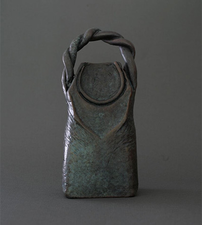 Ancestor Bell, from the Tohoku Memorial Bells, patinated bronze, 2015 Photo by Chris Akin.