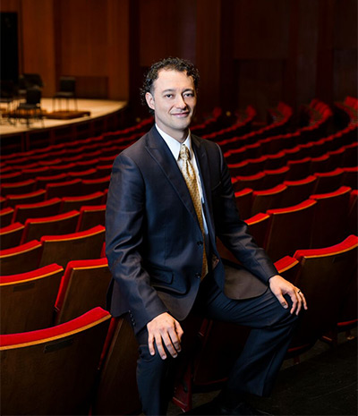 Houston Symphony's Musical Ambassador/Assistant Conductor Carlos Andrés Botero. Photo by Julie Soefer.