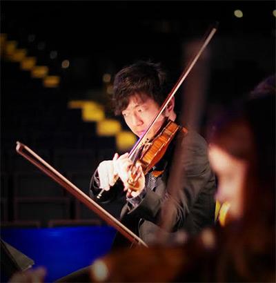Dallas Chamber Symphony Concertmaster Kazuhiro Takagi.