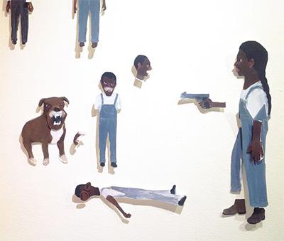 Jennie Ottinger, Their Eyes Were Watching God cutouts, 2016.