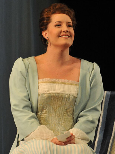 Soprano Elza van den Heever in her 2010 Dallas Opera debut as Fiordiligi in Mozart's Cosi fan tutte at the Winspear Opera House. She returns in the title role of Bellini's Norma. Photo by Karen Almond, Dallas Opera.