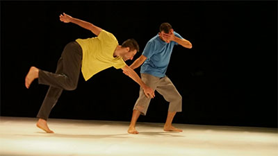 Yossi Berg and Oded Graf in Heroes (Part 2). Photo by Gadi Dagon.