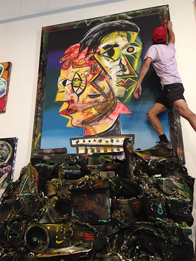Install at MASS Gallery, October, 2013.