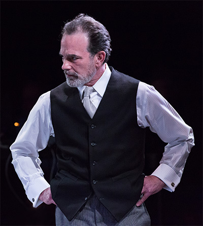 John Feltch as Sims in the Alley Theatre's production of The Nether.