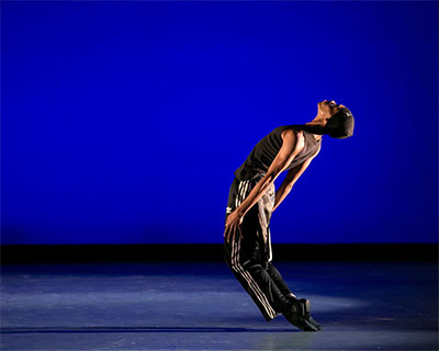 My'Kal Stromile of the Bruce Wood Dance Project in Bruce Wood's Requiem. At Dallas DanceFest 2015. Photo by Sharen Bradford.