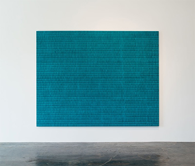 Anna Bogatin, Untitled (Sea Wanderings 1008), 2014, 84 x 108 inches, courtesy Holly Johnson Gallery.