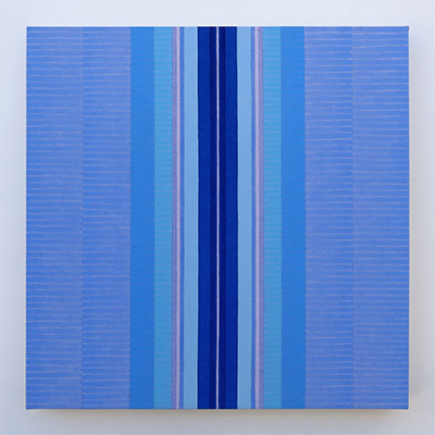 Anna Bogatin, BCL11, 2014, acrylic on canvas, 12 x 12 inches, courtesy Holly Johnson Gallery.