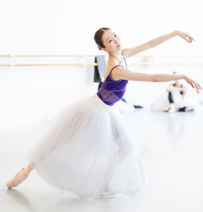 Yuriko Kajiya rehearsing Giselle. Photo by Amitava Sarkar.
