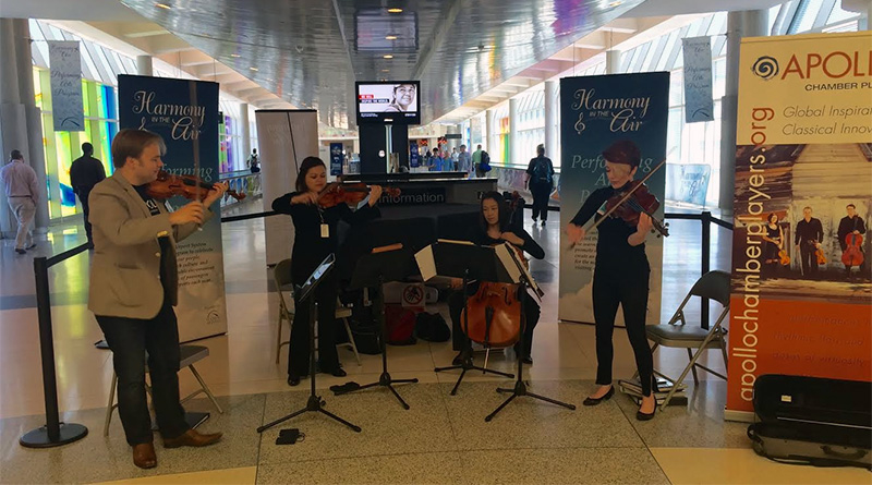 Travel Music: Harmony in the Air Delights Houston's Airport Passengers