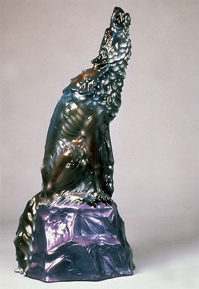 "Luis Jimenez, Howl, 1987, fiberglass, ed: A.P., 61"" x 31"" x 27"". Courtesy of Moody Gallery, Houston, Texas."