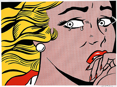 Roy Lichtenstein Crying Girl, 1963 Three-color offset lithograph 18 1/16 x 24 in. Blanton Museum of Art, Gift of Charles and Dorothy Clark, 1976.