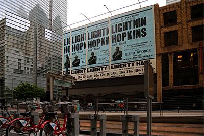 Lightnin' Hopkins, Jamal Cyrus, 2016 Photo by Joel Luks.
