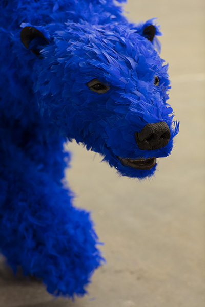 Paola Pivi. It's not fair, 2013. Urethane foam, plastic, feathers. Courtesy of Galerie Perrotin, NY.