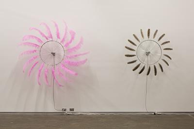 Paola Pivi. TBT, 2016. Aluminum, feathers. Courtesy of Massimo de Carlo, Milan.