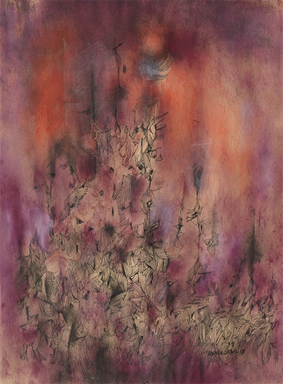 Norman Lewis (1909–1979) Countless Upward, 1959 Watercolor, ink, and crayon on paper © Estate of Norman W. Lewis; Courtesy of Michael Rosenfeld Gallery LLC, New York, NY Private Collection